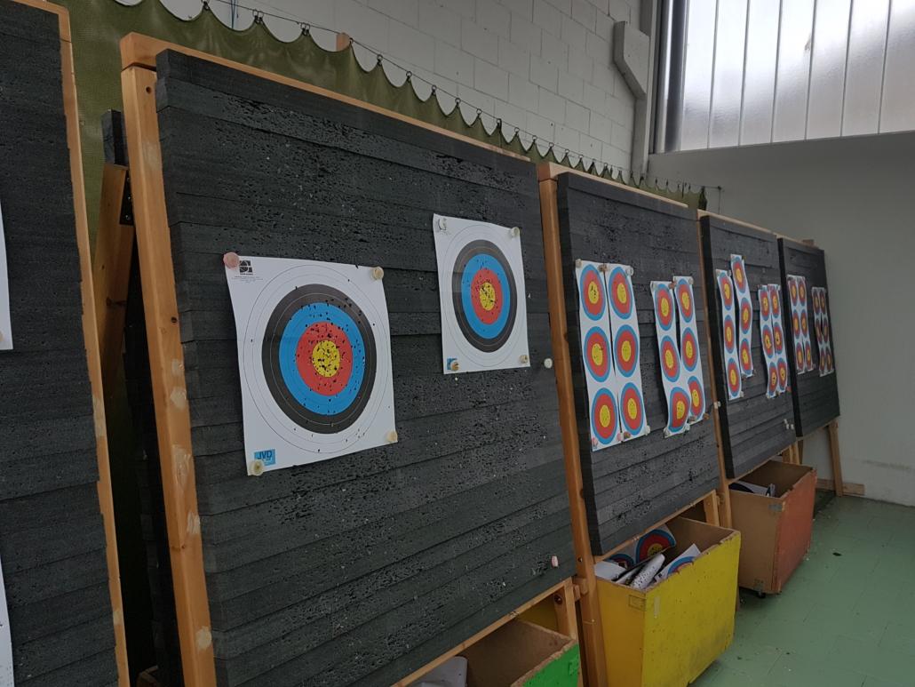 Archery target in PE reticolato espanso